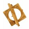 Bronze Toggle Square Knot 18mm